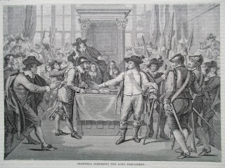 Cromwell dismissing the Long Parliament