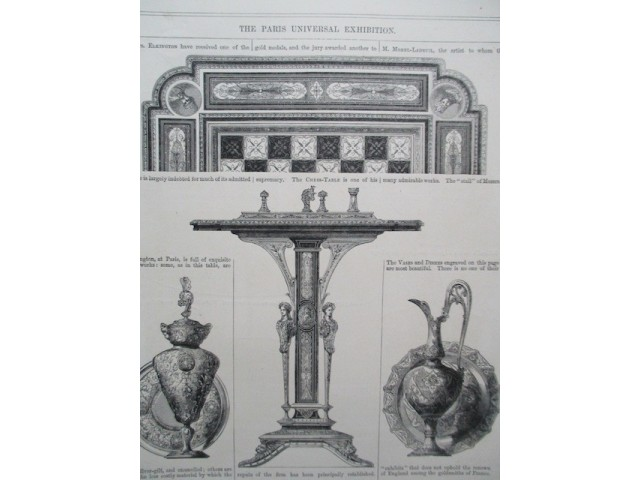 The Paris Universal Exhibition: Chess-Table