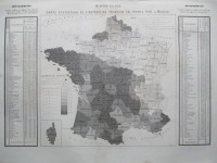 Carte statistique de l'instruction primaire