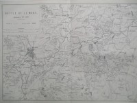 Carte, Battle of Le Mans January 11th 1871